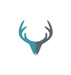 Deer horn hunter abstract logo vector