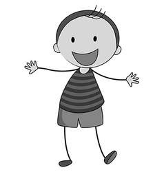 Little boy smiling alone vector