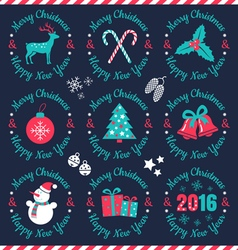 set christmas banners dark vector image