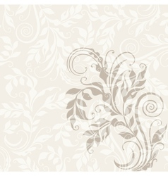 Eps10 decorative floral background vector