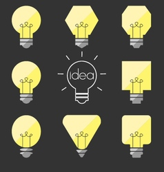 Shape idea lamp vector