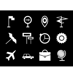 Travel icon set vector image