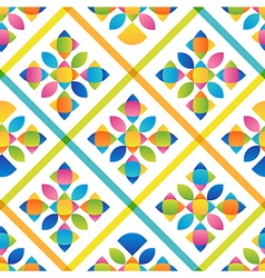 Abstract flat colorful seamless pattern vector image vector image