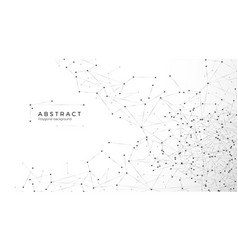 Abstract particle background mess network nodes vector