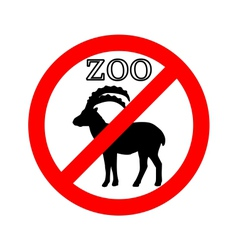 Alpine ibex in zoo prohibited vector