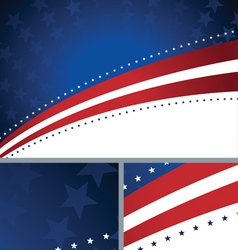 American patriotic abstract holiday background vector