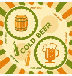 Beer poster design vector