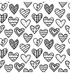 Black and white seamless pattern with outline vector image vector image