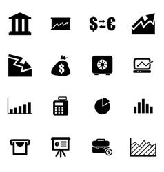 Black economic icon set vector