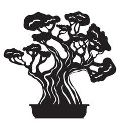 Bonsai tree silhouette vector