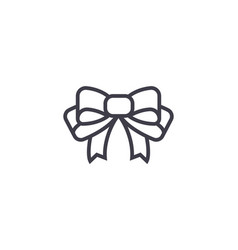bow line icon sign on vector image