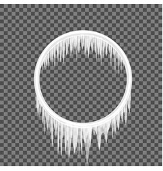Circle frame icicles vector
