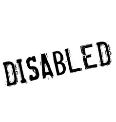 Disabled stamp rubber grunge vector