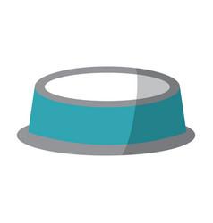 Empty bowl food pet accessory icon vector