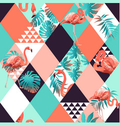 exotic beach rhombus trendy seamless pattern vector image