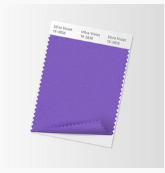 Fabric sample textile swatch template for vector