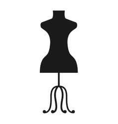 Female mannequin isolated icon design vector