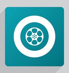 flat video film icon vector image