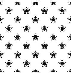 Geometrical figure of five pointed star pattern vector