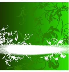 Green ramp flowers curves background vector