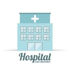 Hospital building design vector