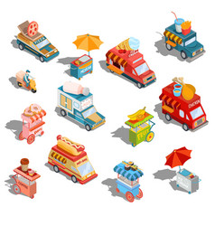 Isometric cars fast delivery vector