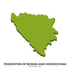 Isometric map of federation of bosnia and vector