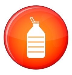 Large bottle of water icon flat style vector image