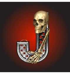 Metal figure with skeleton vector image vector image