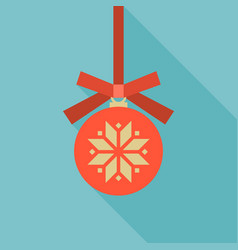 red christmas ball icon vector image