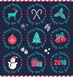 set christmas banners dark vector image vector image