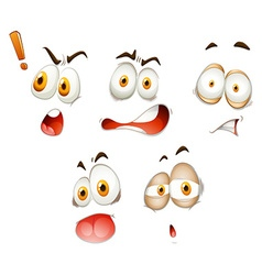 Set of different emoticons on white vector image