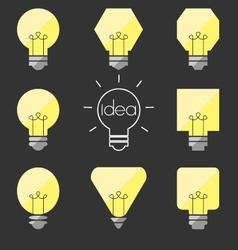 shape idea lamp vector image vector image