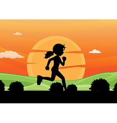 Silhouette running vector