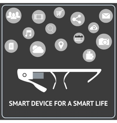 Smart glasses vector image