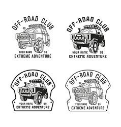 Stock off road club emblem vector image