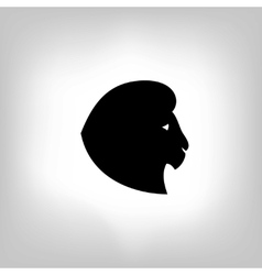 Stylized lion head - vector