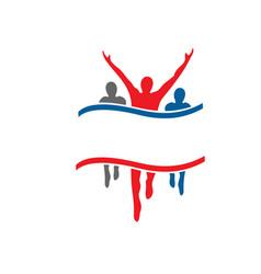 success health winner logo template vector image