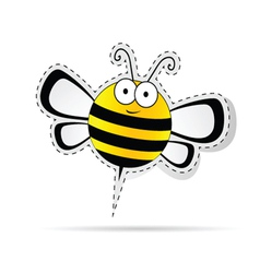 sweet bee cartoon vector image vector image