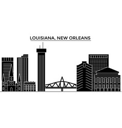 Usa louisiana new orleans architecture vector
