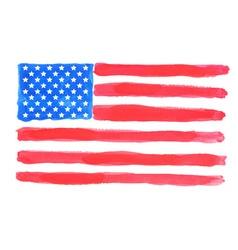 Watercolor american flag vector