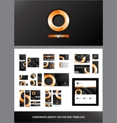 Corporate identity orange circle logo vector