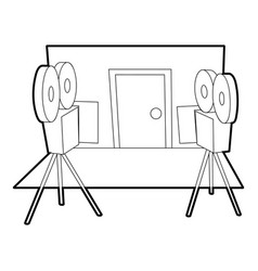 Filming icon outline style vector