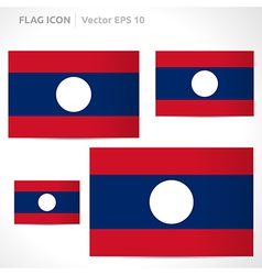 Laos flag template vector