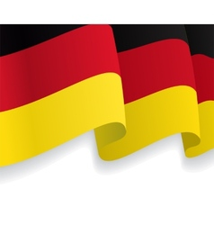 Background with waving german flag vector