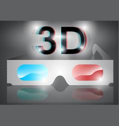 3d eyeglasses vector