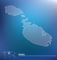 Map of Malta vector image