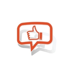 Like message sticker orange vector