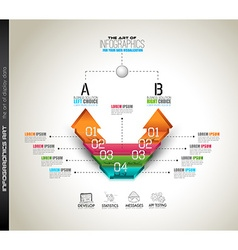Infographic template for your business solutions vector