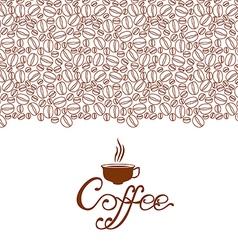 cofee contour brown vector image